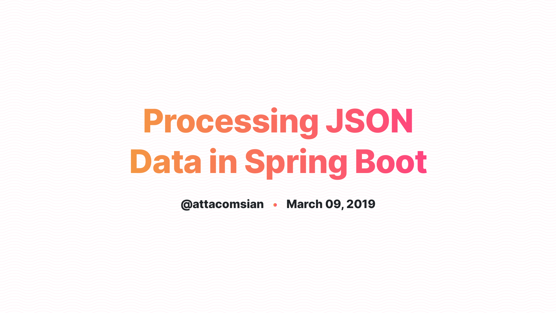 Processing JSON Data in Spring Boot